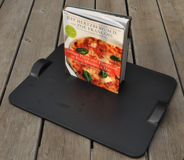 "Stepping up the flatbread with a new book, moving the ""oven"" outdoors with a new pizza stone"