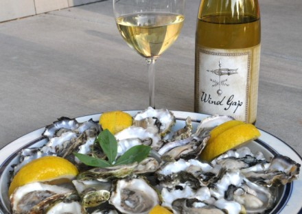 Incredible combination - Wind Gap James Berry Chardonnay and oysters