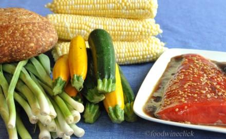 Raw ingredients from Kingfield Farmer's Market