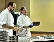 Brian McElrath and his assistant chocolate maker Pete gave us an appreciation of what it takes to make fine chocolates.