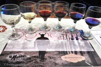 "A nice lineup of Murphy-Goode wines. My favorite was the ""All in Claret""."