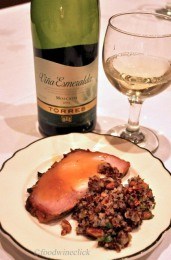 The pork tenderloin with a sweet glaze and wild rice was another wine pairing surprise. The Moscato was perfect, better than the red alternative I tried.