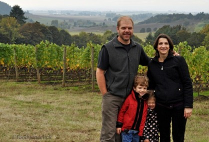 The Pelos and Sandberg families partner in the operation with the Sandbergs (pictured here) as the winegrowers.
