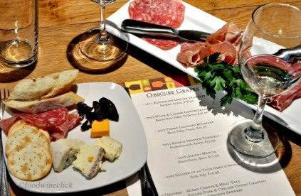A nice cheese plate and salumi plate to start off