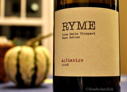 "Ryme Aglianico combines ""big"" with ""food friendly"""