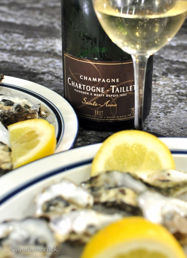 Chartogne-Taillet Cuvee Sainte-Anne was perfect with oysters