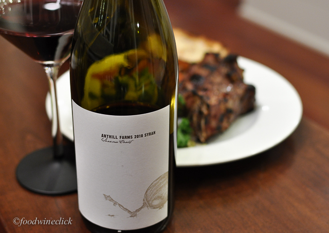 Anthill Farms Sonoma Coast Syrah is a perfect foil for grilled meats