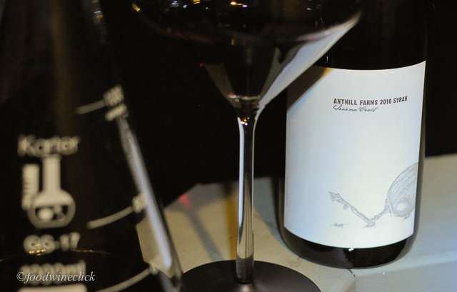 Anthill Farms Sonoma Coast Syrah by headlamp.