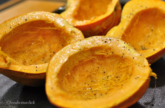 Squash ready to roast
