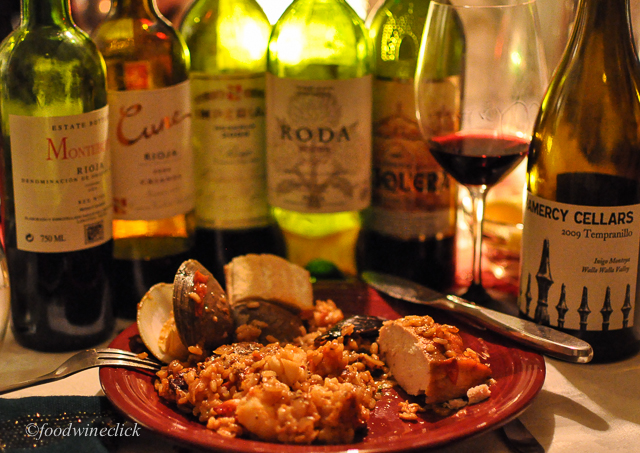 We had fun tasting a variety of wines with the paella