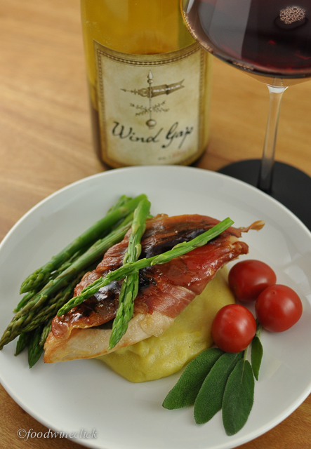 A thin slice of prosciutto and sage made this chicken crave red wine.