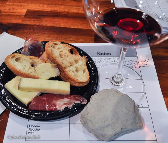 We enjoyed feeling a rock from a Barolo vineyard.