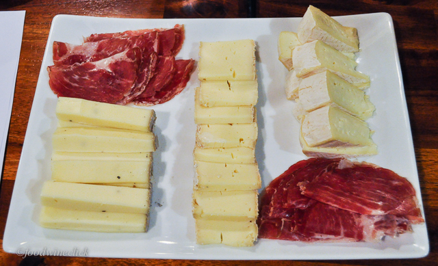 A nice assortment of cheese and charcuterie to pair with our wines.