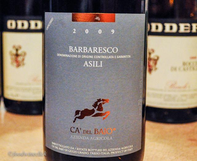 Ca del Baio Barbaresco from the Asili Vineyard