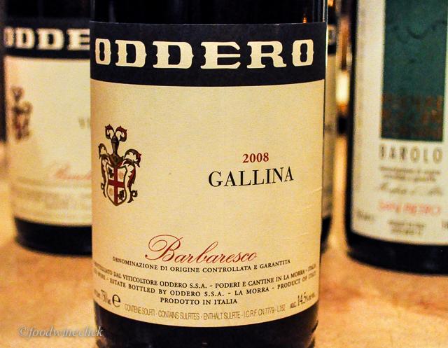 A single vineyard Barbaresco from Oddero winery.