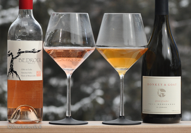 Rosé on the left, Orange on the right