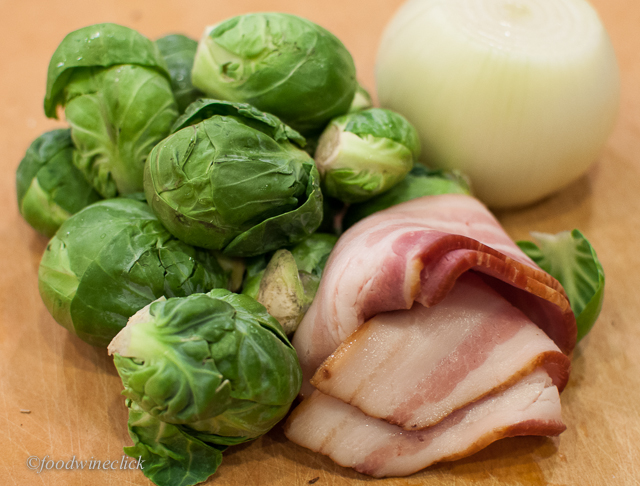 Fresh Brussels Sprouts and Good Quality Bacon