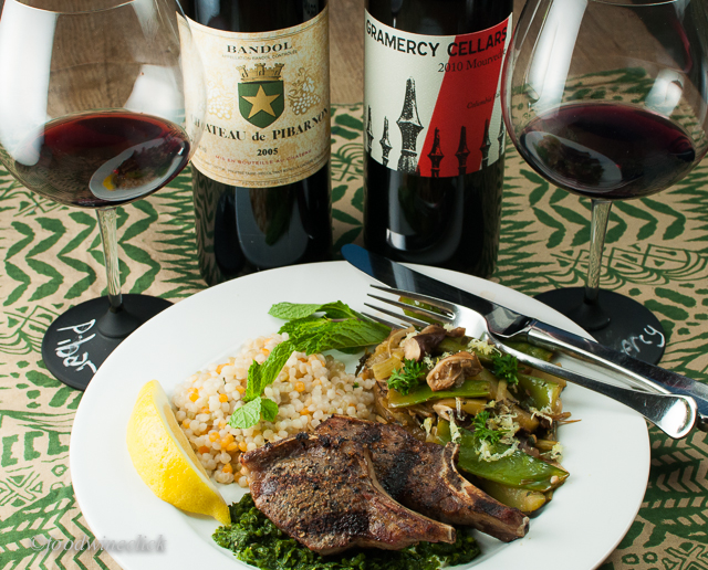 Cardamom spiced lamb chops with Bandol / Mourvèdre