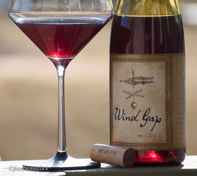 The Wind Gap Mourvedre is lighter in color, aroma and flavor