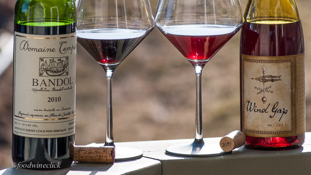 You'll notice the color is quite different between the two wines