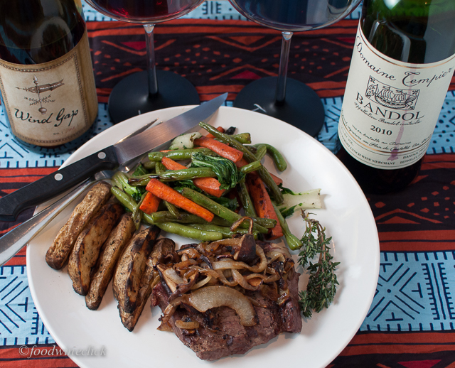 Mourvedre / Bandol wines matched with a dinner from the grill