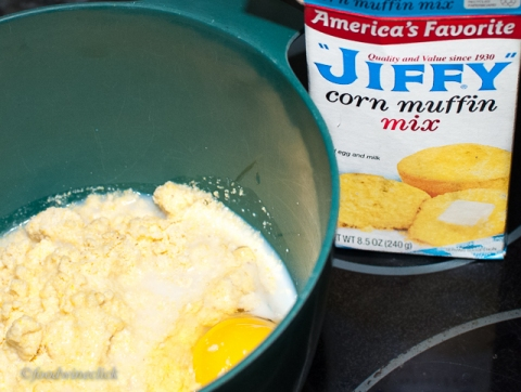 Jiffy corn muffin mix is all I need for perfect cornbread.