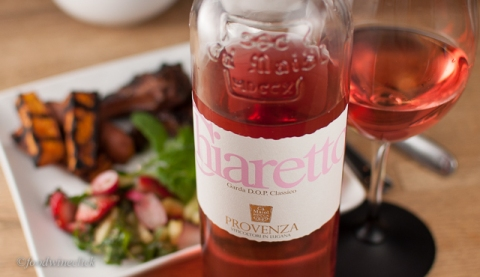 Chiaretto Rosé was lively and light, nice with the salad.
