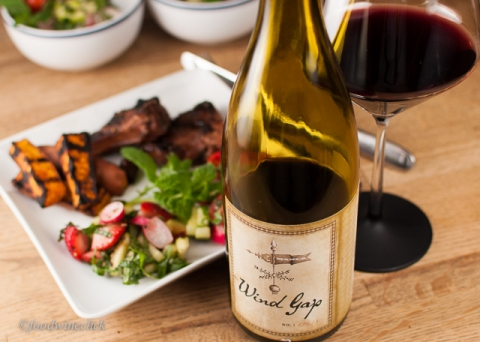 On balance, I gave the wine pairing to Wind Gap Sonoma Coast Syrah