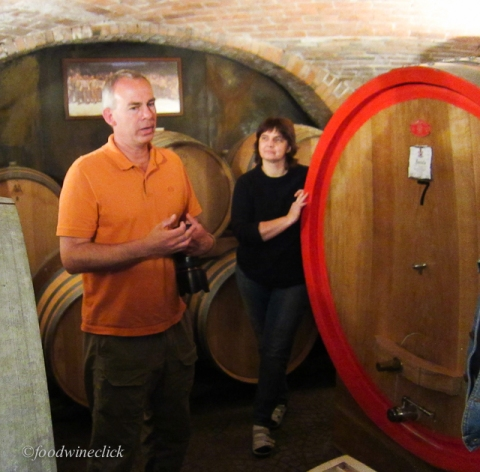 Robert translates for the winemaker and adds his knowledge as well.