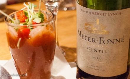 A lovely Alsace blend with a spicy gaspacho.