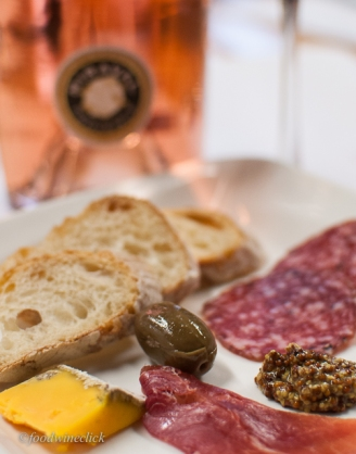 Cheese and charcuterie, a typical pairing. Still, very nice.