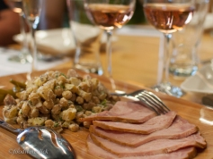 Picnic ham and chickpea potato salad were perfect for the Rosé.