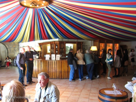 Gather in the tasting room before the tour