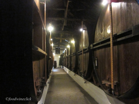 Vintage ports are aged in these very large casks