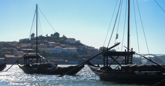 Vineyards farther up the Douro river provided the port wine to be aged in cellars in Porto.