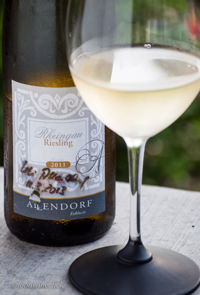 This Riesling offers just a touch of sweetness.