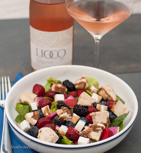 A crisp rosé is a perfect foil for a dinner salad.