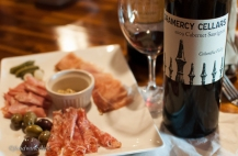 Gramercey Cellars Cabernet Sauvignon and charcuterie plate.