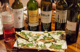Flatbread made to match with Cabernet Sauvignon
