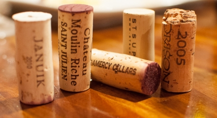 Cabernet Day wine corks