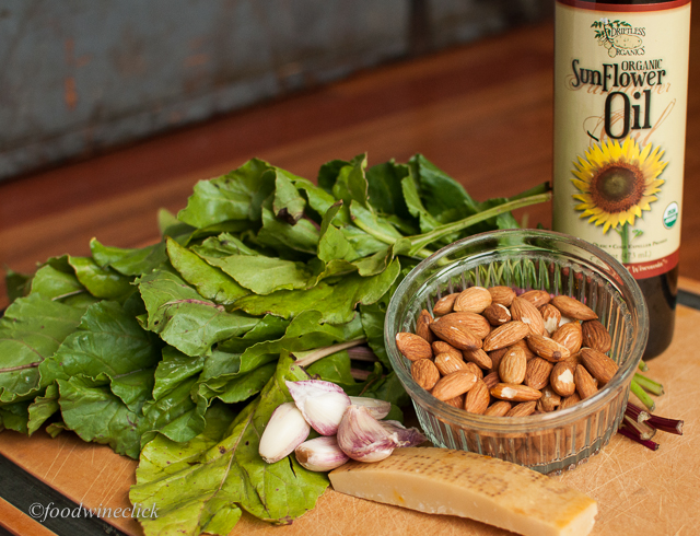 Beet greens and almonds for pesto?  Really?