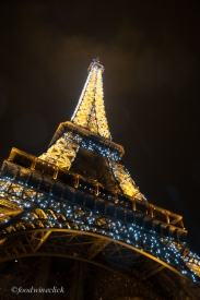 Every hour on the hour, the Eiffel Tower has a scintillating light show.