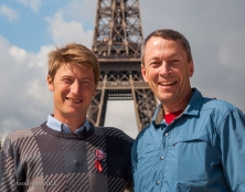 Our guide, Maël, and me at our tour conclusion