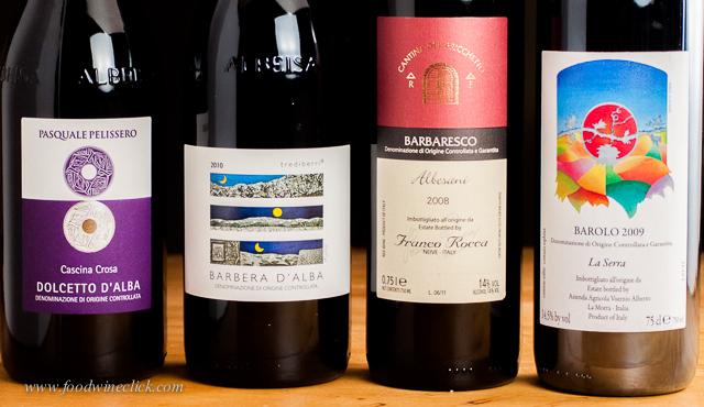 Dolcetto, Barbera, Barbaresco & Barolo