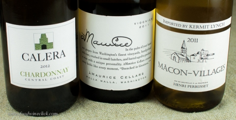 A selection of rich white wines
