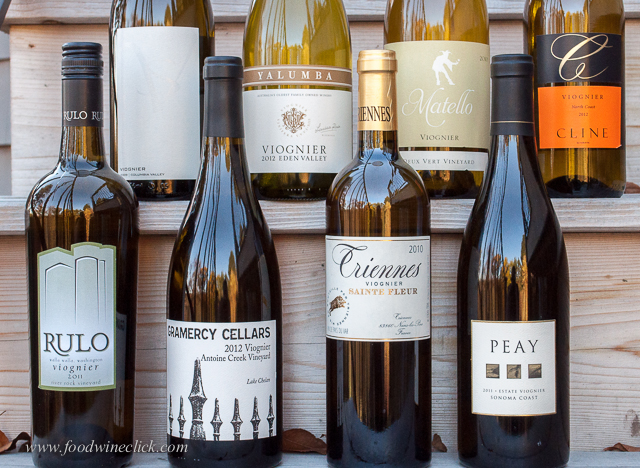 A variety of Viognier wines from around the world