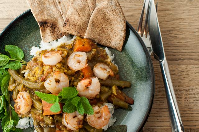 Spicy shrimp curry!