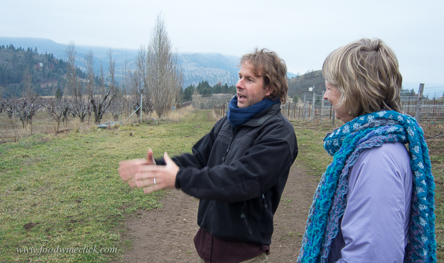 Steven took us for a tour of the recently planted estate vineyard