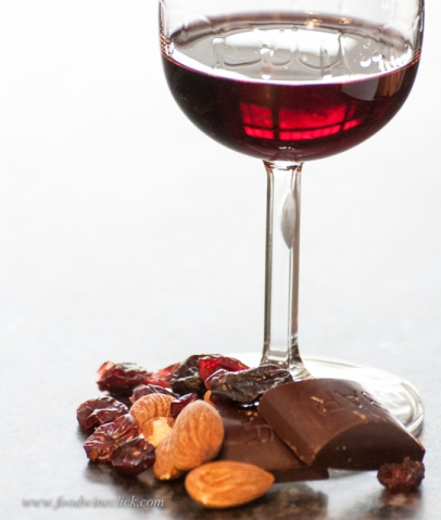 Dark chocolate, nuts, dried fruit balance the bittersweet Barolo Chinato