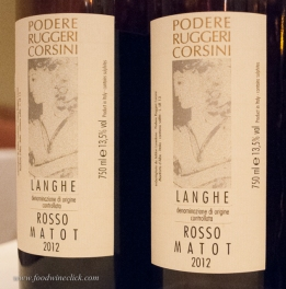 """Langhe Rosso """"Matot"""", an everyday red wine made from Dolcetto, Barbera and Nebbiolo. I noticed Dolcetto in the aroma with Nebbiolo tannins in the taste"""
